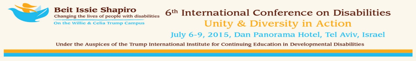Unity and Diversity - Beit Issie Shapiro International Conference