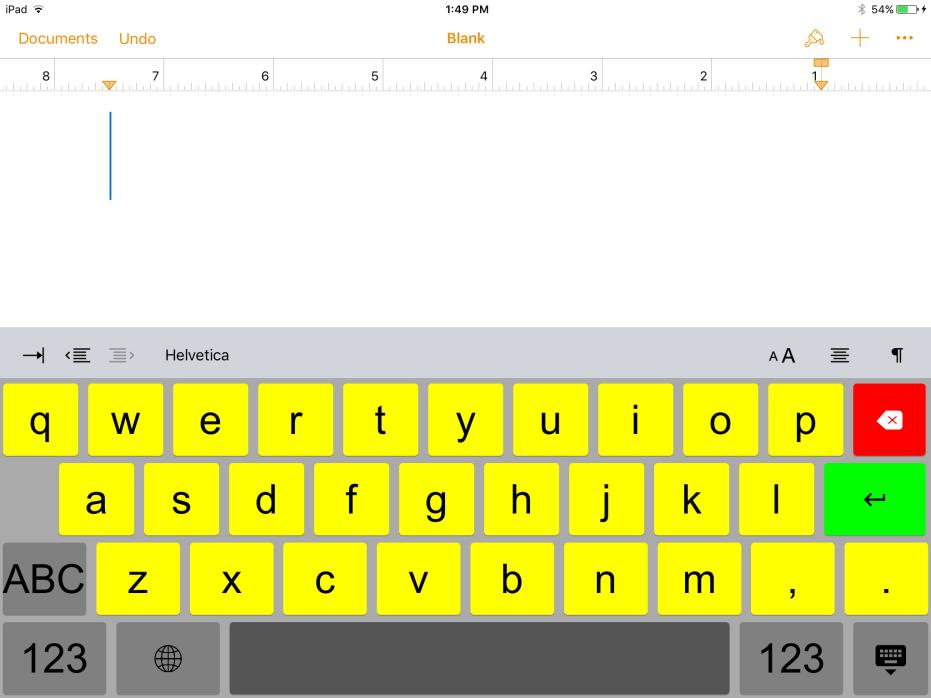 sample keyboard