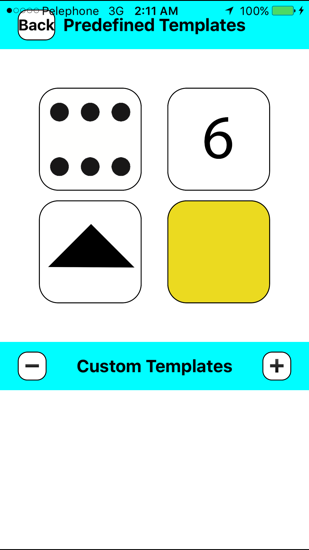 Creating dice screen