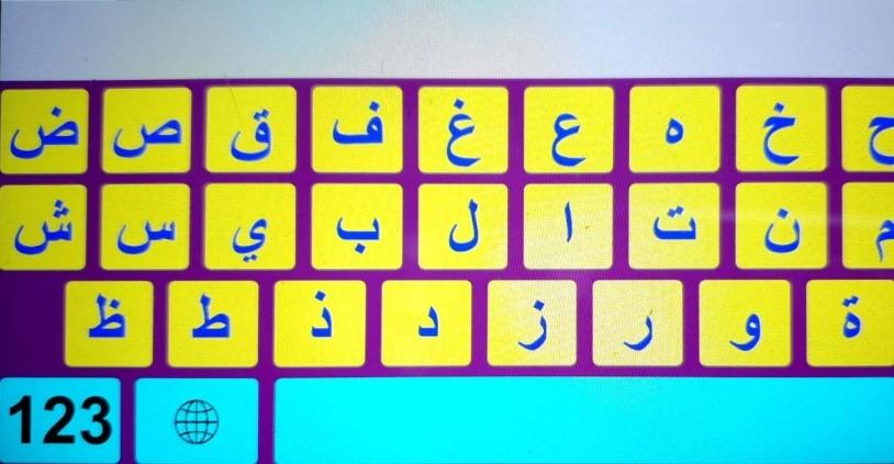 مثال للوحة مفاتيح مخصصة