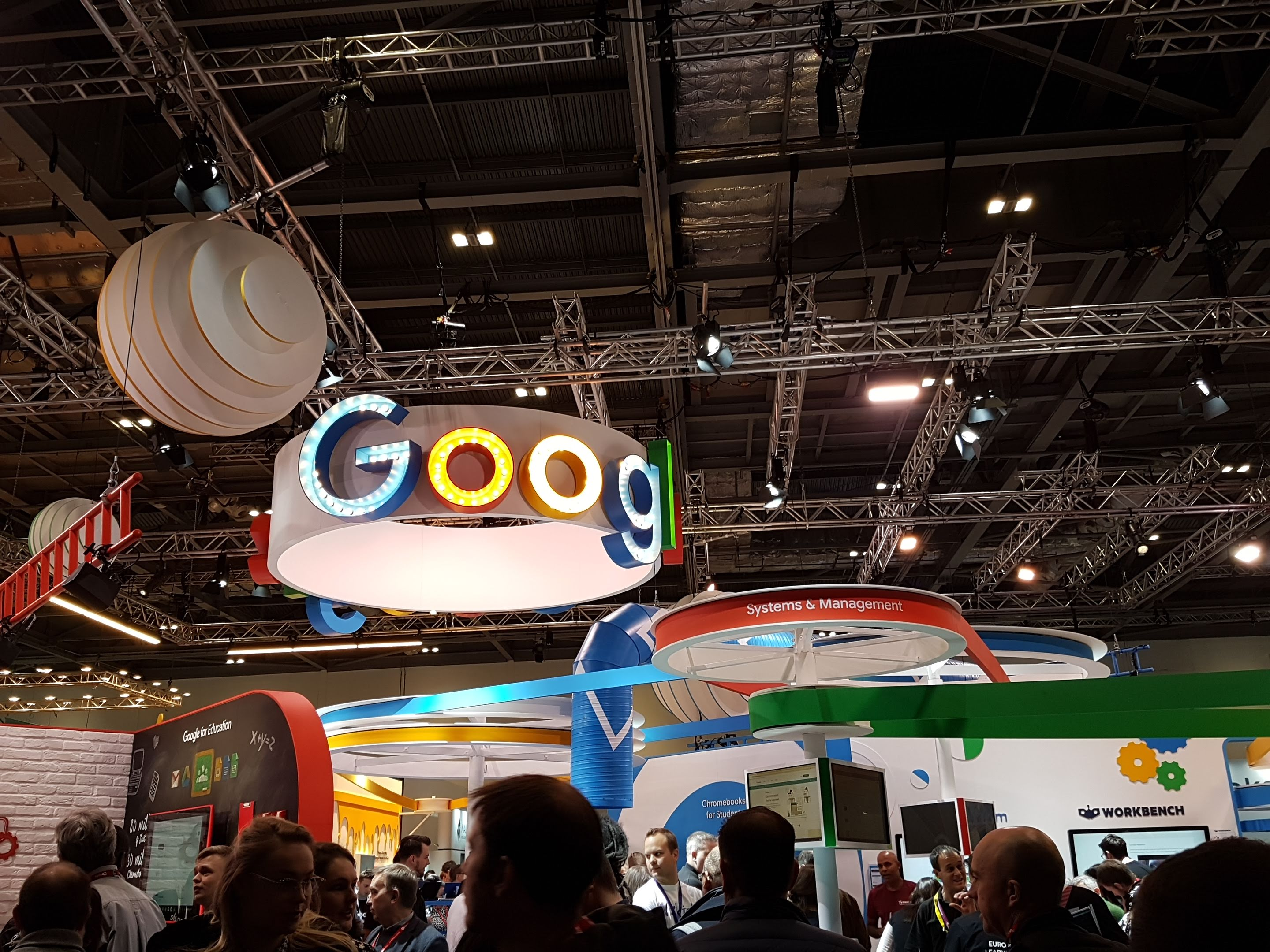 Google's central booth