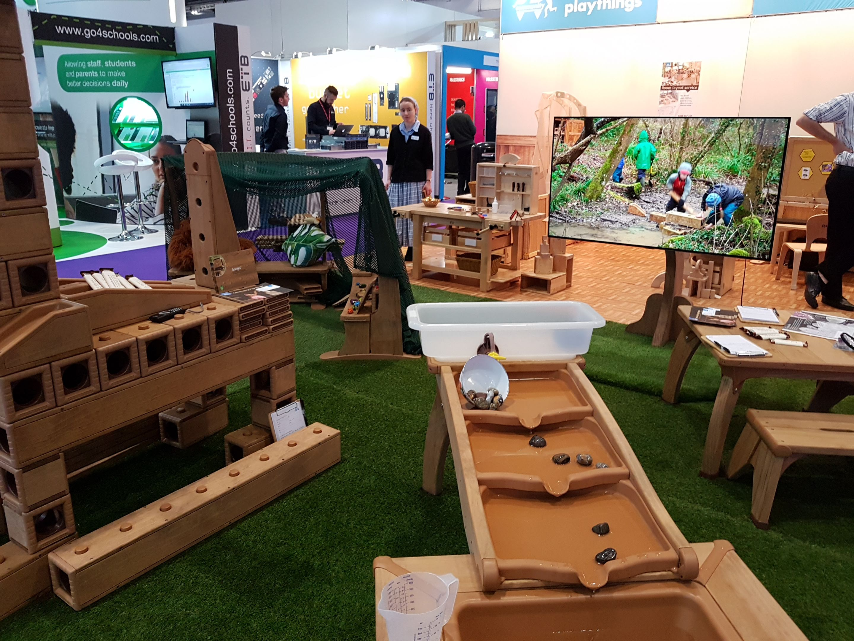 Wooden play modules – some great low tech too :)